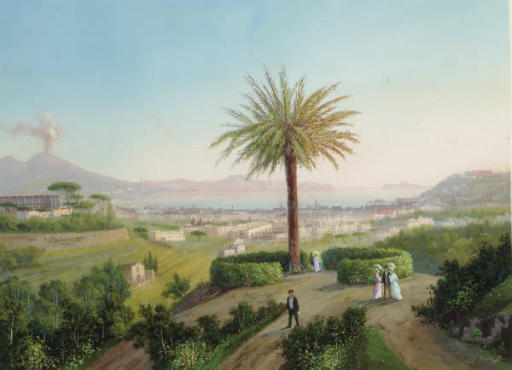 View of the Bay of Naples; and a companion work
