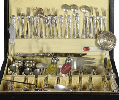 AN ASSEMBLED GROUP OF SILVER-P