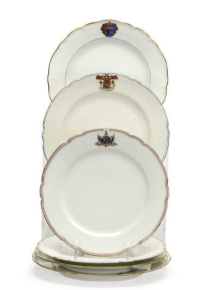 TWO RUSSIAN PORCELAIN PLATES A