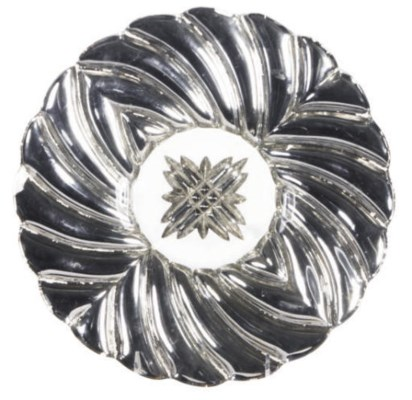 A SET OF SILVER LUSTER GLASS P