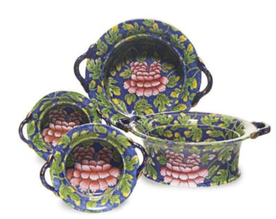 TWO PAIR OF ENGLISH PEARLWARE