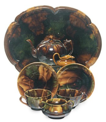 A SCOTTISH EARTHENWARE BROWN F