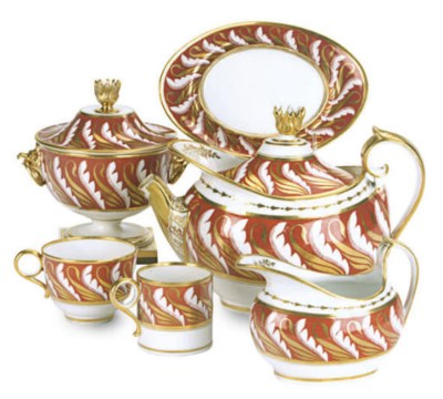 AN ENGLISH PORCELAIN IRON-RED