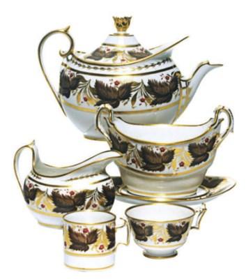 AN ENGLISH PORCELAIN PART TEA