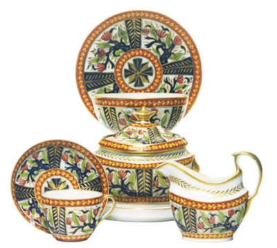 AN ENGLISH PORCELAIN IMARI PAR