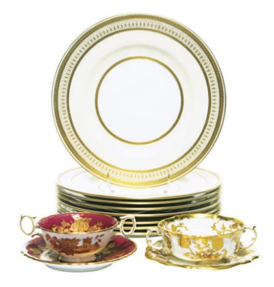 TWO SETS OF ENGLISH PORCELAIN