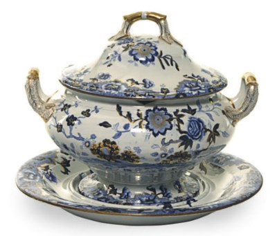 AN ENGLISH IRONSTONE TUREEN, C