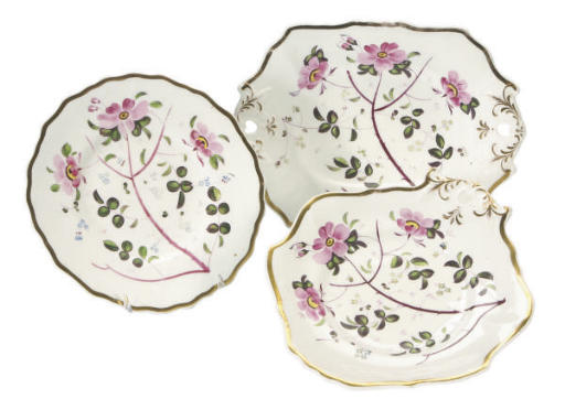 TWO ENGLISH PORCELAIN PART SER