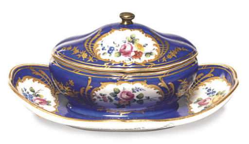 A FRENCH PORCELAIN LATER DECOR