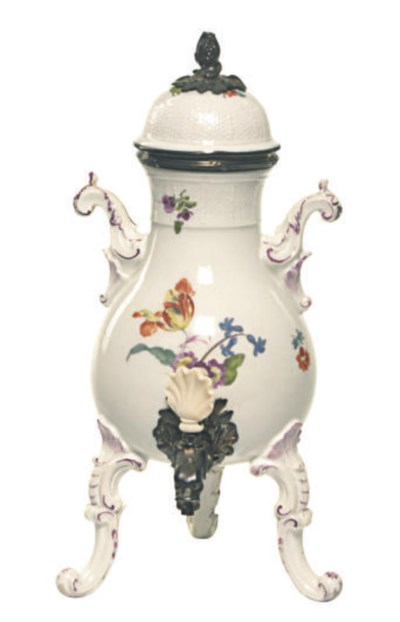 A SILVER AND IVORY MOUNTED GER