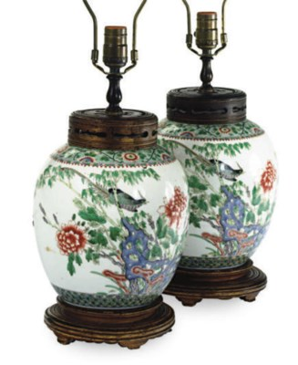 A PAIR OF CHINESE PORCELAIN GI