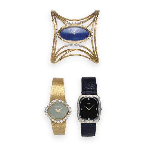 A GROUP OF 18K GOLD WRISTWATCH