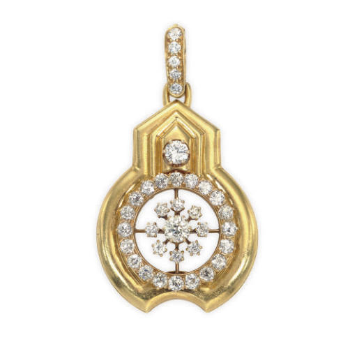 A DIAMOND AND 18K GOLD PENDANT