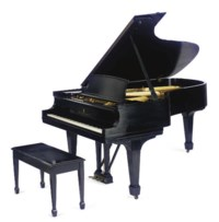 A STEINWAY AND SONS BABY GRAND PIANO,