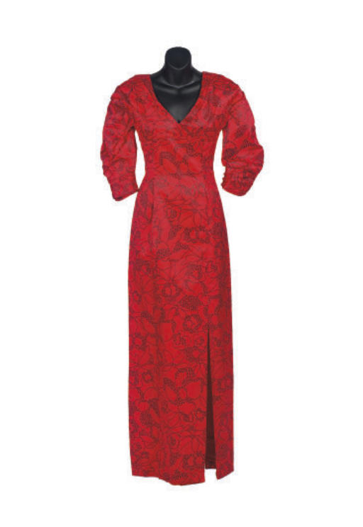 A PAULINE TRIGERE RED SATIN AN