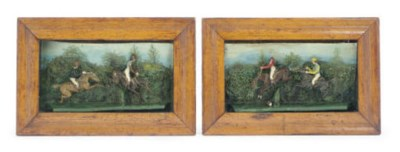 A PAIR OF ENGLISH DIORAMAS,