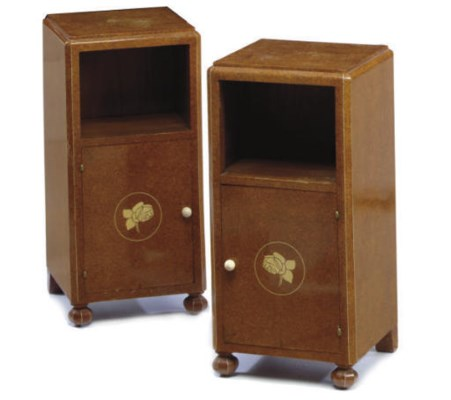 A PAIR OF ART DECO IVORY INLAI
