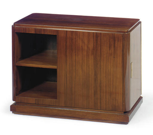 A ROSEWOOD SIDE CABINET**,
