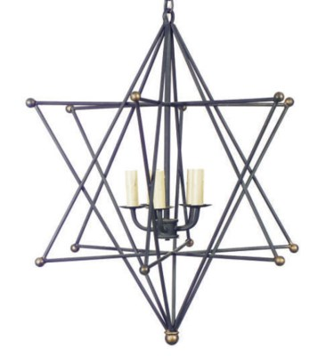 A WROUGHT IRON STAR-FORM FOUR-