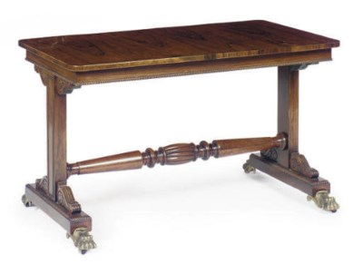 A REGENCY ROSEWOOD AND MAHOGAN