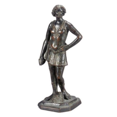 AN ITALIAN BRONZE FIGURE OF DA
