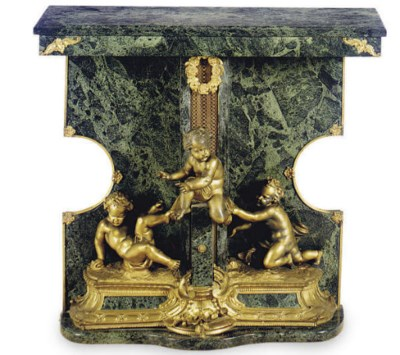 A FRENCH GILT-BRONZE MOUNTED G