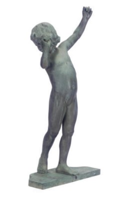 A FRENCH BRONZE FIGURE OF A GI