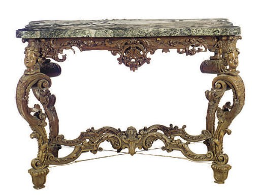 A FRENCH OAK CENTER TABLE,