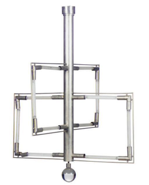 A NICKELED-METAL AND GLASS CHA