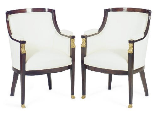 A PAIR OF GILT-METAL MOUNTED S