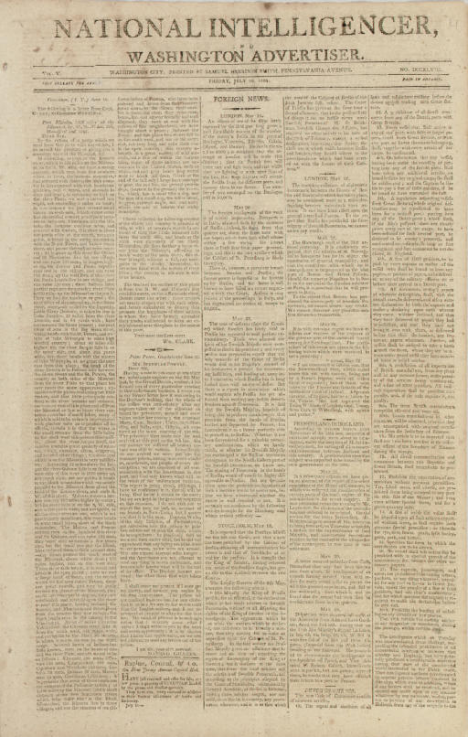 CLARK, William. Printed letter