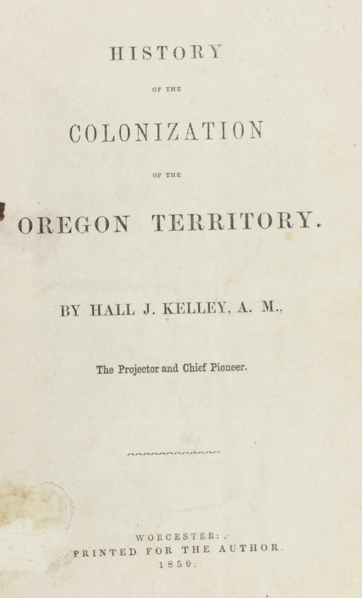 KELLEY, Hall J. History of the