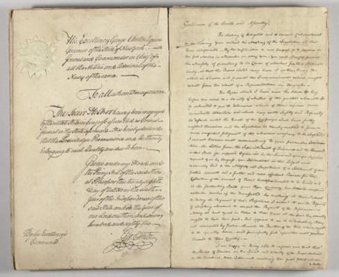 CLINTON, George. Manuscript an