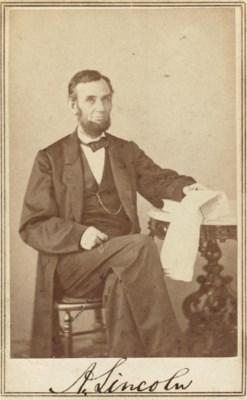 LINCOLN, Abraham. GARDNER, Ale