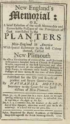 MORTON, Nathaniel (1613-1685).