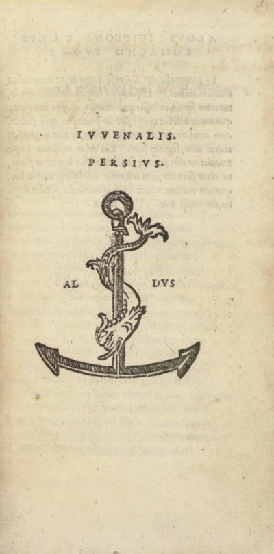 [ALDINE PRESS]. JUVENAL. -- PE