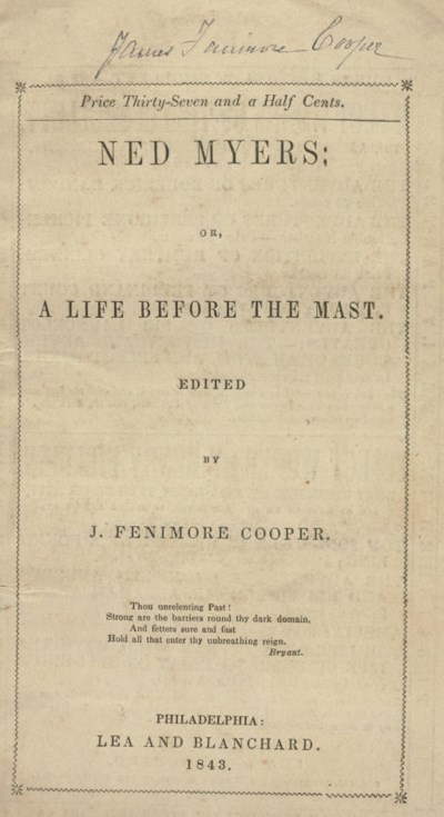 COOPER, James Fenimore. Ned My