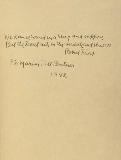 FROST, Robert (1874-1963). A W