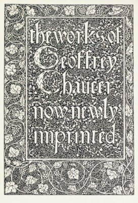 [KELMSCOTT PRESS]. CHAUCER, Ge