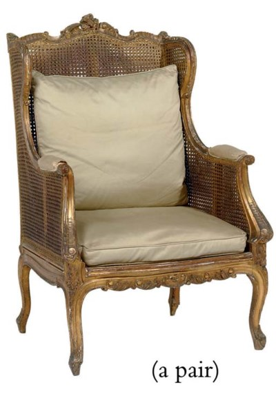 A PAIR OF FRENCH GILT-WOOD AND
