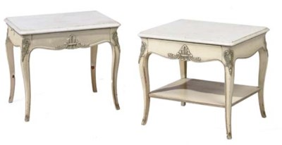 A pair of Louis XV style cream
