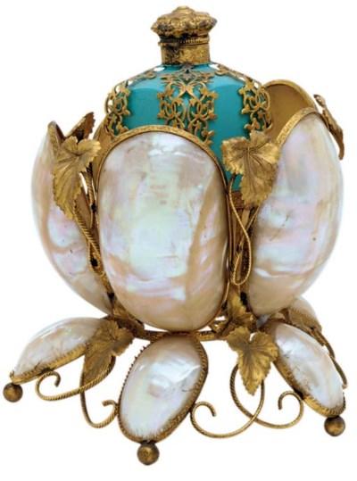 A Napoleon III ormolu, shell a