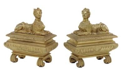 A pair of Regence style ormolu