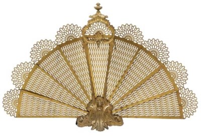 A FRENCH GILT-METAL FIRE-SCREE
