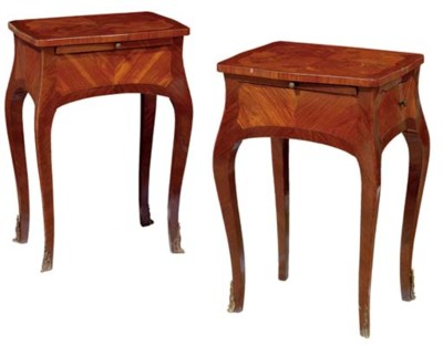 A pair of Louis XV style kingw