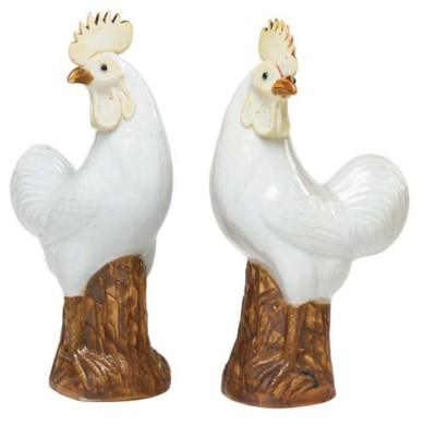 A PAIR OF CHINESE EXPORT COCKE