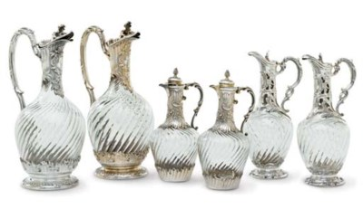 A GROUP OF SIX FRENCH SILVER-M
