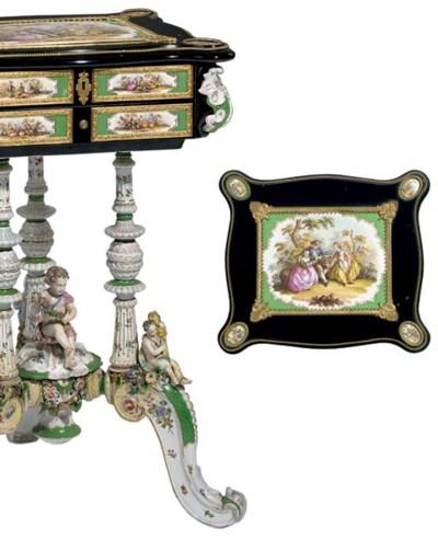A German gilt-metal and green-