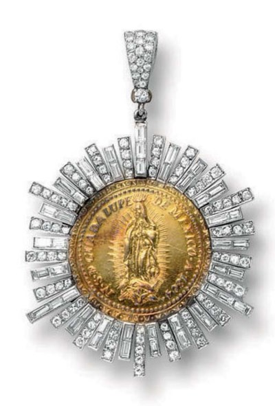 A GUADALUPE DIAMOND MEDALLION