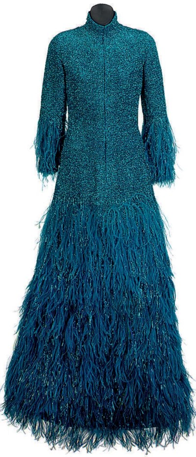 A TURQUOISE BLUE METALLIC KNIT
